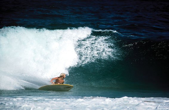 Shane bottom turns on his McCoy Surfboard