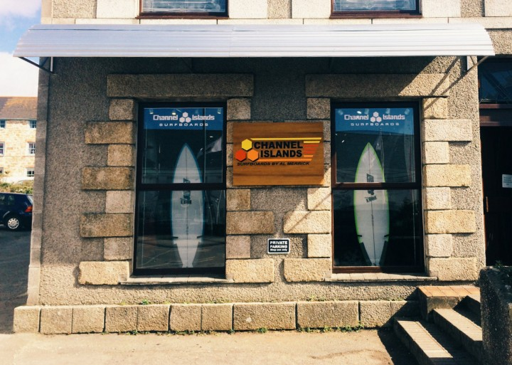 The Channel Islands Pro Store shop front