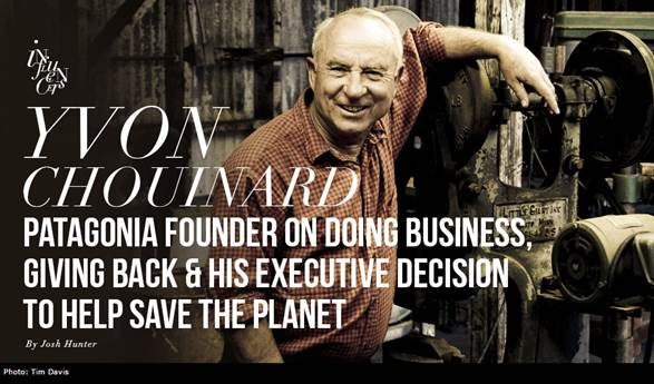 Yvon Chouinard - Funder of Patagonia - interview