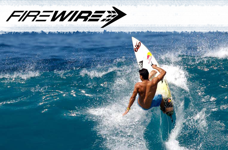 Firewire surfboards advert. Largest range of Firewire surfboards in the UK