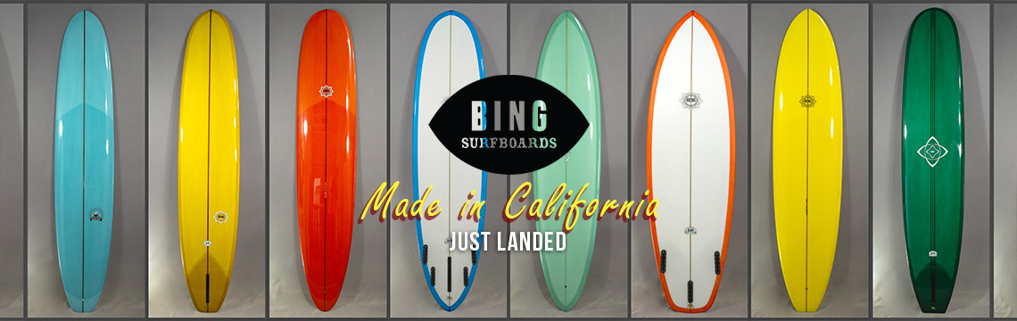 New Bing shortboards, midlengths and longboards in
