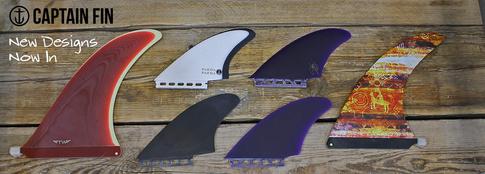 A selection of surf fins by Captain Fin Co