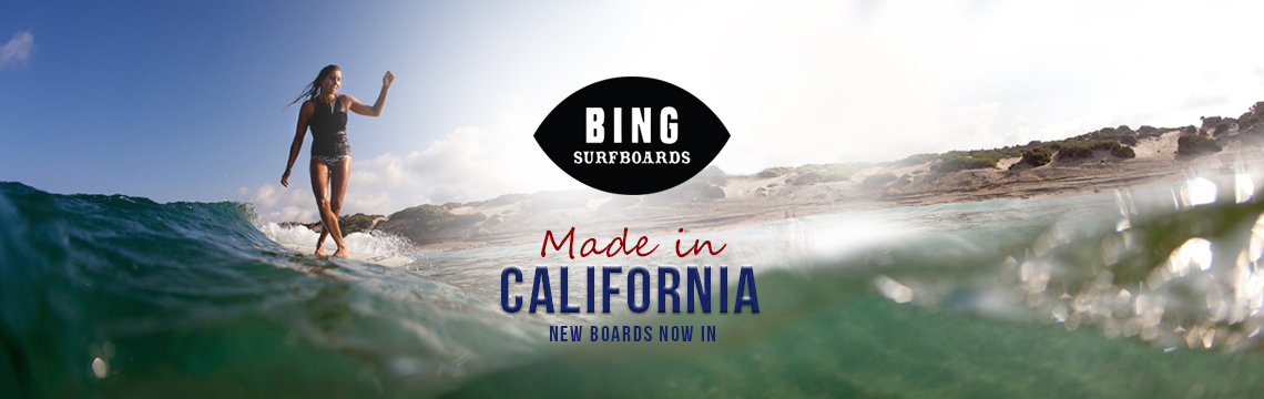 New Bing Surfboards in stock