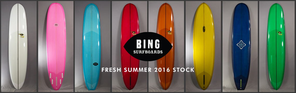 New Bing surfboards in for summer 2016