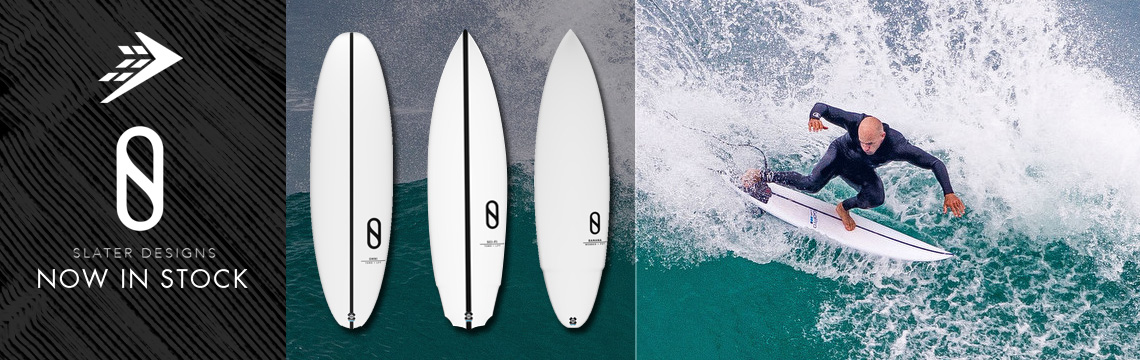 Firewire Slater Designs surfboards in stock now