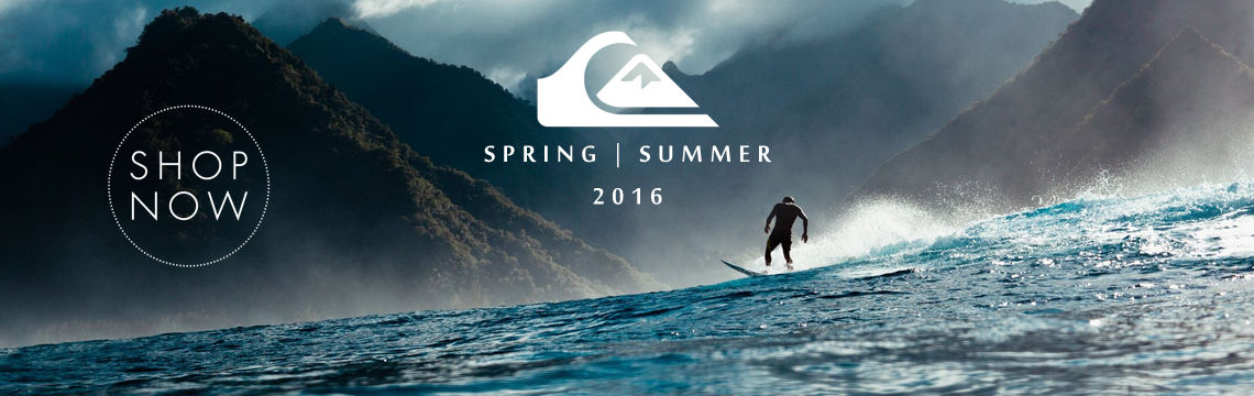Quiksilver summer 16 clothing now in stock
